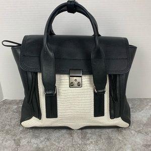 Auth 3.1 Philip Lim pashli black white handbag